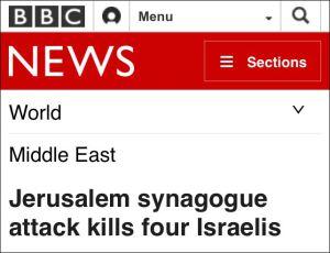 Anschlag von Jerusalemer Synagoge tötet vier Israelis