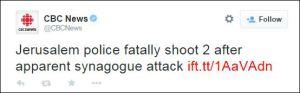 Jerusalemer Polizei erschießt 2 nach mutmaßlichem Synagogenanschlag